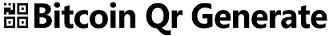 bitcoin Qr generate Logo